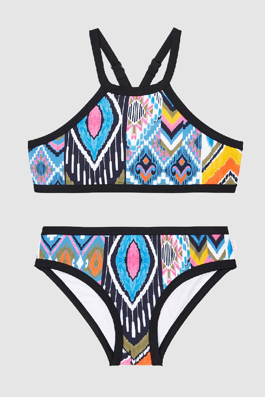 Kislány Bikini szett Seafolly Desert Rose Apron Multi