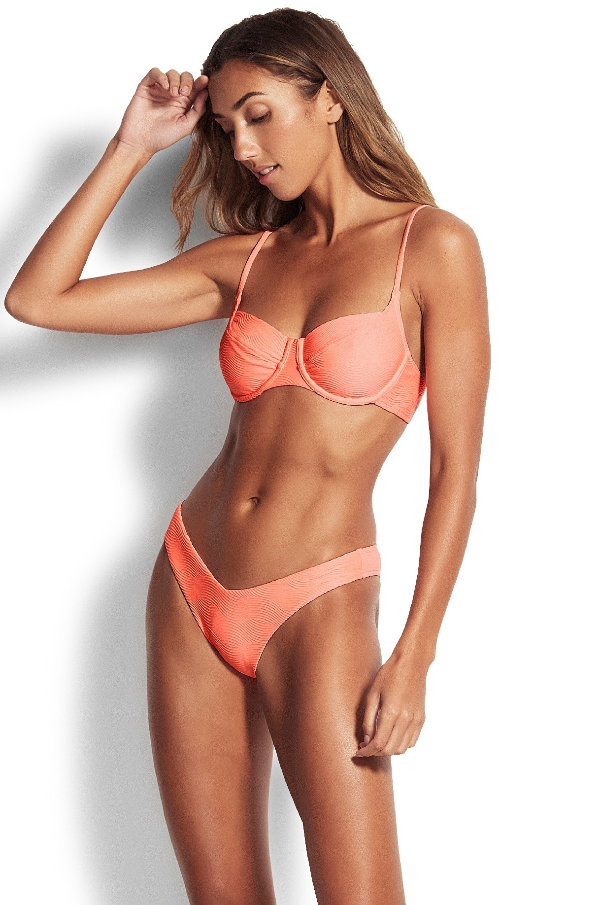 "Bikini alsó Seafolly Capri Sea ""V"" High Cut Rio Fluro Melon"