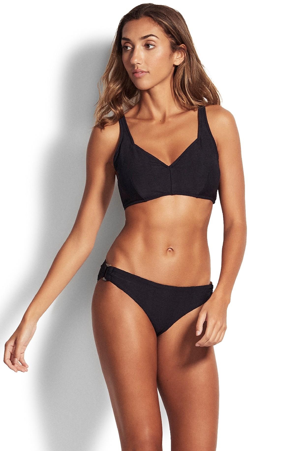 Bikini felső Seafolly Capri Sea F Cup Halter Black