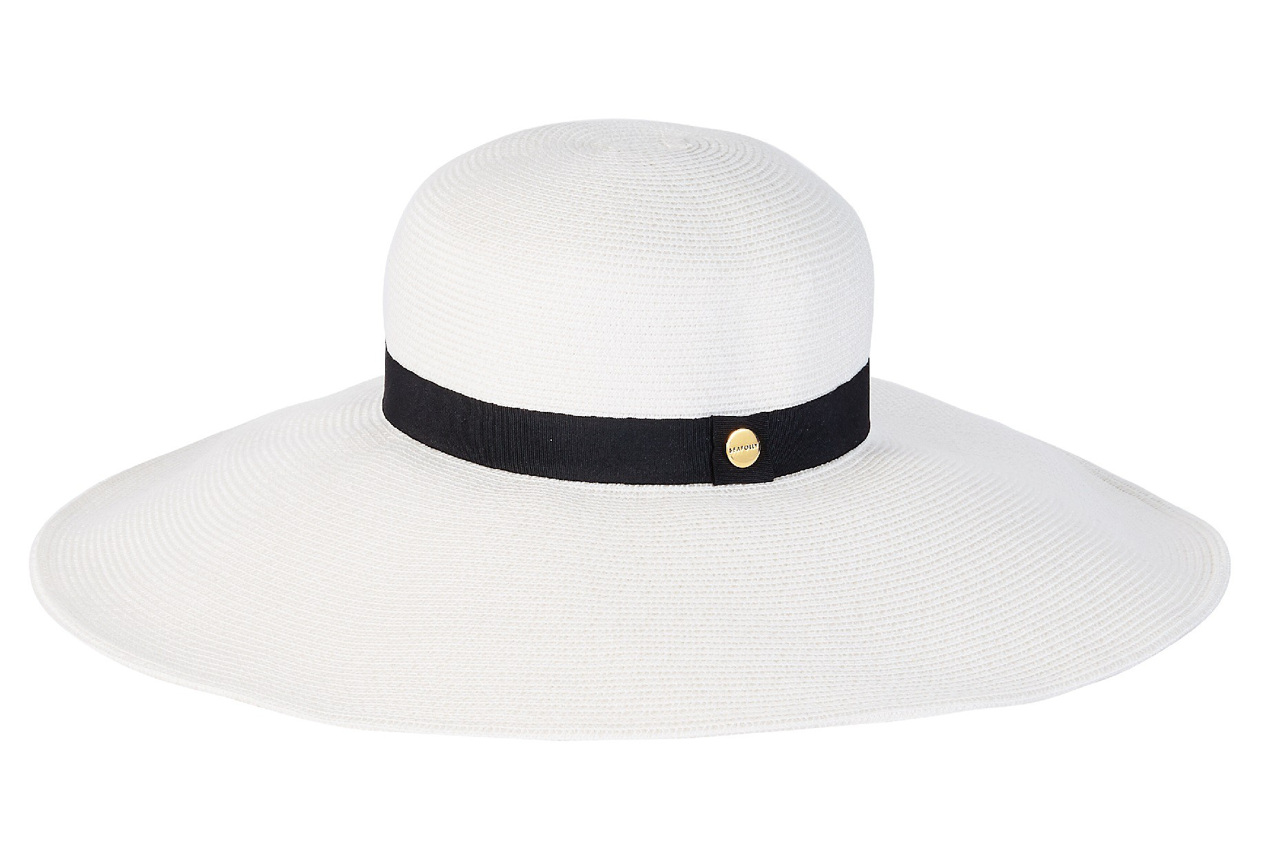 Kalap Seafolly Packable Wide Brim White