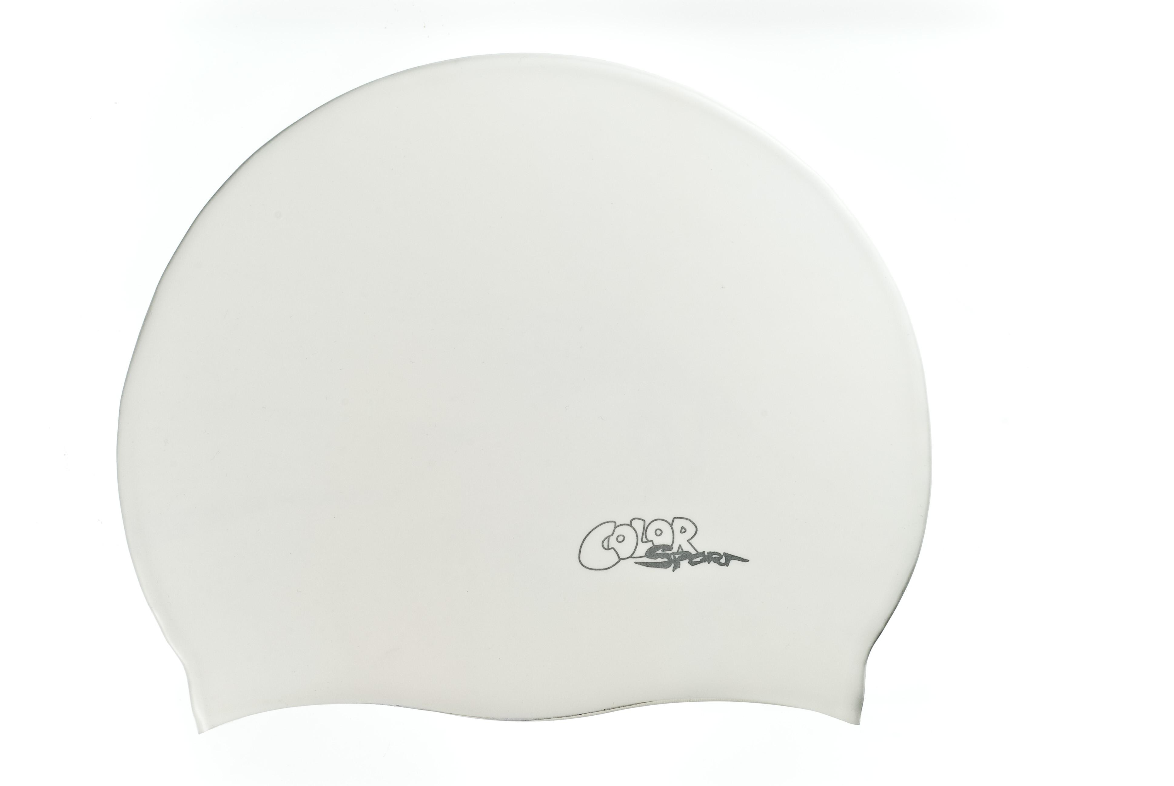 Color Sport solid felnőtt úszósapka F212 white