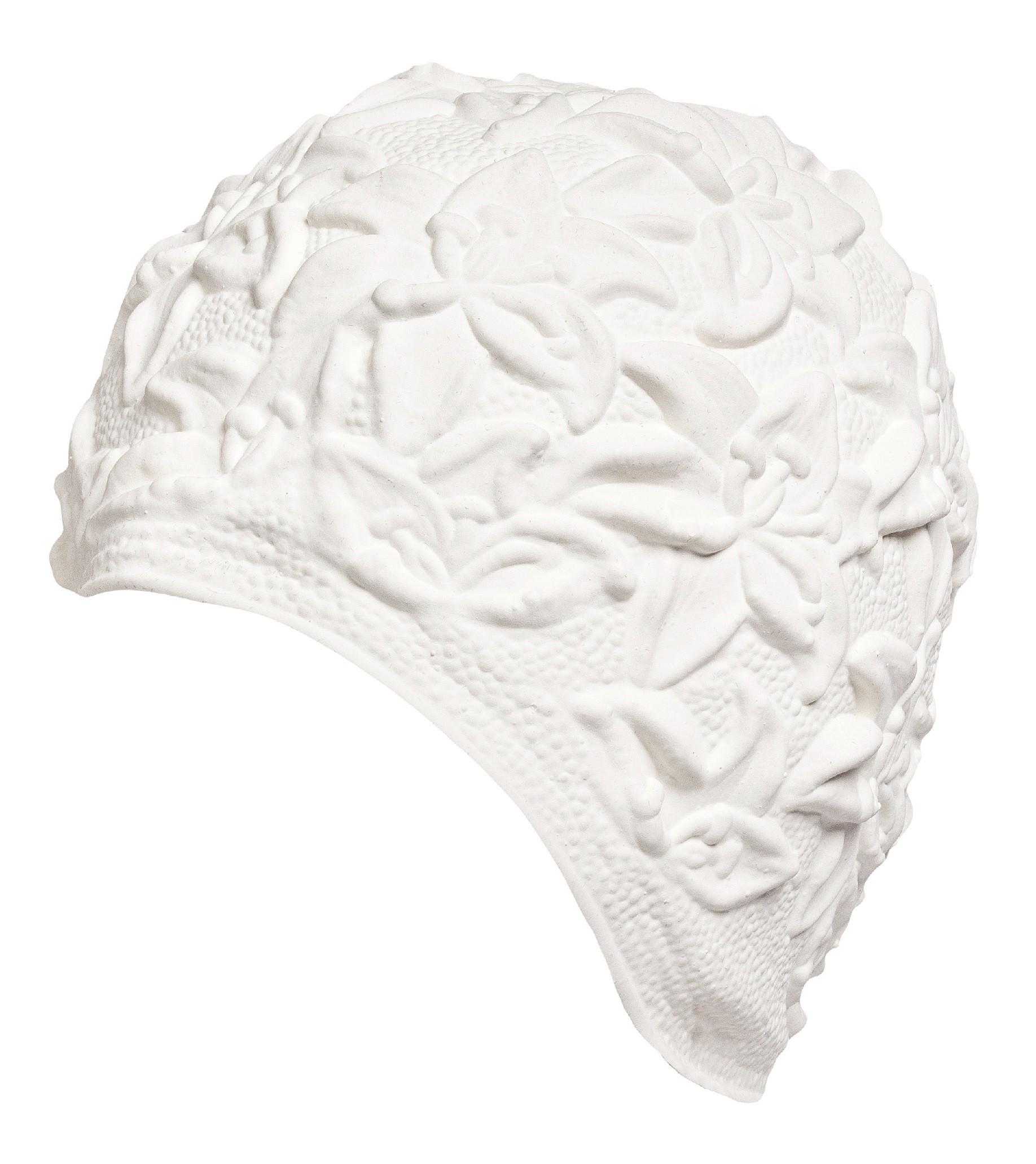 Úszósapka Latex - fehér liliomos - CanCan fa7f7736d2