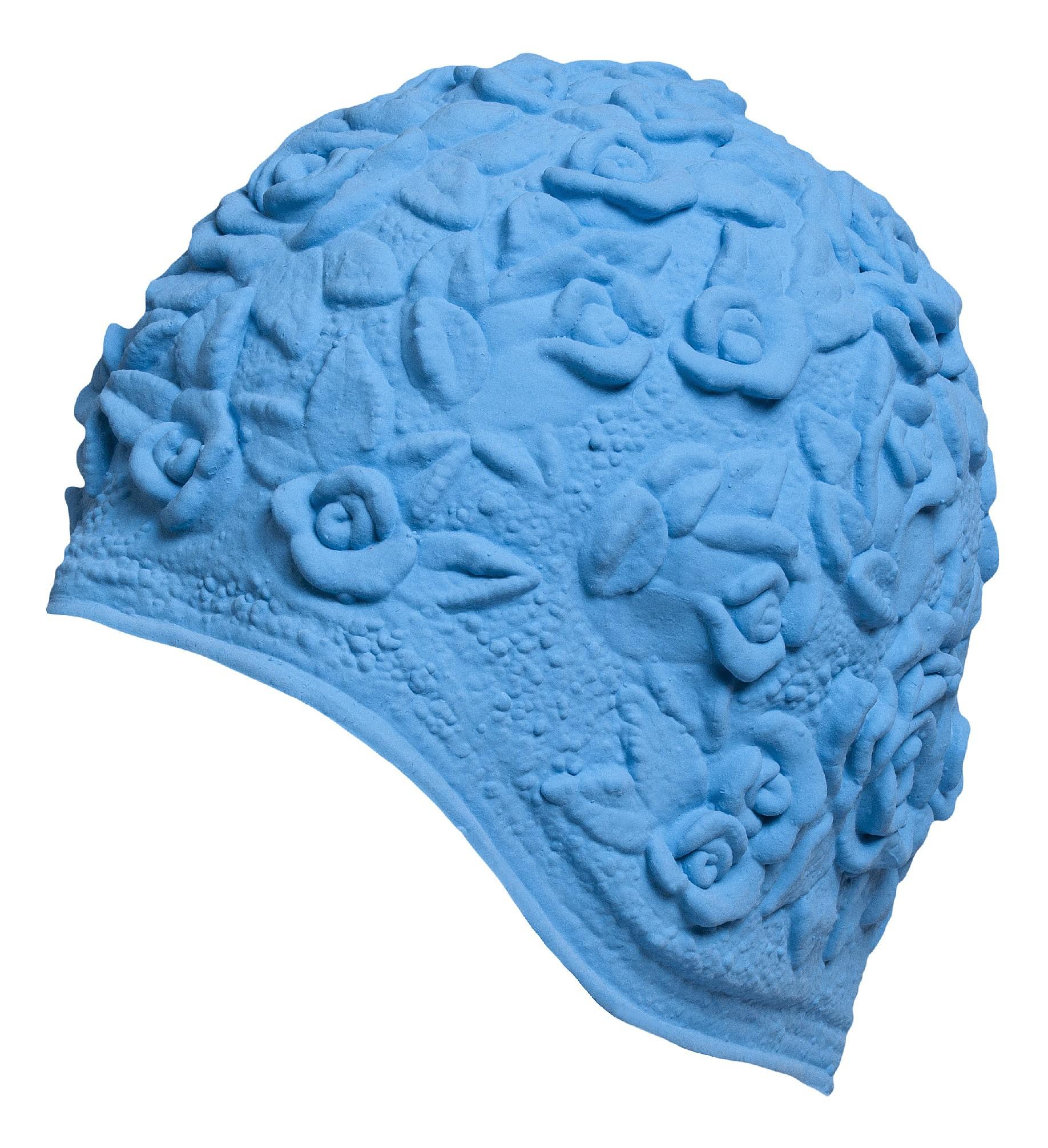 Úszósapka Latex - kék rózsás