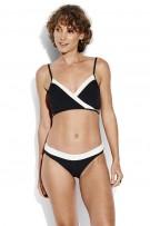Bikini Seafolly Pop Block Wrap Front Booster Black