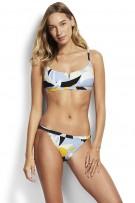 "Bikini felső Seafolly Aloha ""V"" Wire Bralette Steel Blue"