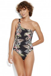 Fürdőruha Seafolly Ocean Alley One Shoulder Black