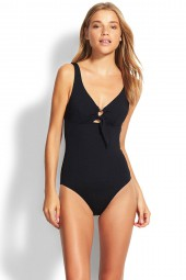 Fürdőruha Seafolly Active Ring Front Black