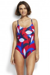 Fürdőruha Seafolly Aloha DD Scoop Neck Chilli