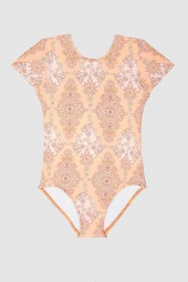 Kislány Fürdőruha Seafolly Toddlers Sea Shells Cut Out Tank Peach Pearl