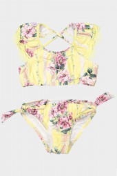 Kislány Bikini szett Seafolly Toddlers Nannas House Frill Crop Lemon