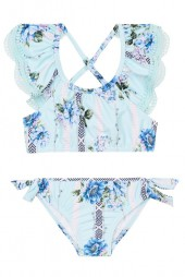 Kislány Bikini szett Seafolly Toddlers Nannas House Frill Crop Soft Blue