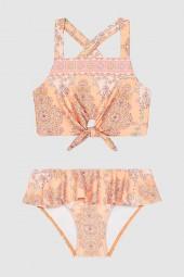 Kislány Bikini szett Seafolly Toddlers Sea Shells Tie Front Peach Pearl