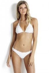 Bikini alsó Seafolly Shimmer Mini Hipster White