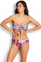 "Bikini Seafolly Copacabana DD ""U"" Tube Bandeau Ultra Pink"