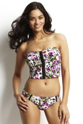 Bikini felső Seafolly Tea Rose Long Bandeau Orchid
