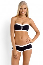 Bikini felső Seafolly Block Party Bandeau Black