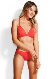 Bikini alsó Seafolly Ruched Side Retro Chilli