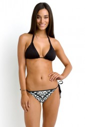 Bikini alsó Seafolly Kasbah Brazilian Tie Side Black