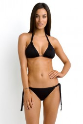 Bikini alsó Seafolly Brazilian Tie Side Black