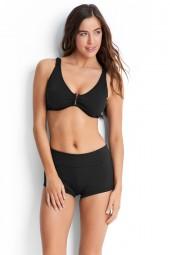Bikini alsó Seafolly Roll Top Boyleg Black