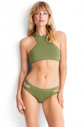 Bikini Seafolly Active High Neck Tank Moss