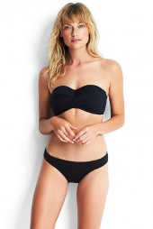 Bikini Seafolly Quilted Bustier Black