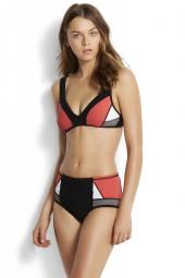 Bikini felső Seafolly Resist Me Bralette Black