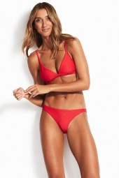 Bikini felső Seafolly Essentials Fixed Tri Chilli