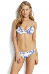 Bikini felső Seafolly Love Bird Fixed Tri White