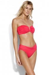 Bikini felső Seafolly Ruched Bandeau Persian Pink