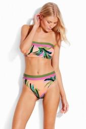 Bikini felső Seafolly Las Palmas Tube Peach