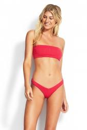 Bikini felső Seafolly Your Type Tube Bandeau Persian Pink