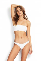 "Bikini alsó Seafolly Your Type ""V"" High Cut Rio White"