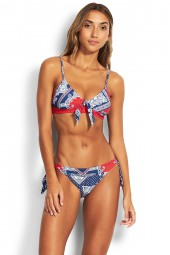 Bikini Seafolly Bandana Bay Fixed Tri Chilli