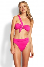 Bikini Seafolly Active Ring Front Bandeau Ultra Pink
