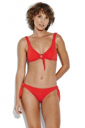 Bikini Seafolly Active Ring Front Crop Tangelo
