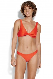 Bikini Seafolly La Luna Tie Front Crop Tangelo