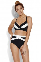 Bikini alsó Seafolly Pop Block High Waisted Black