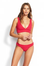 "Bikini felső Seafolly Your Type ""V"" Neck Crop Persian Pink"
