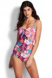Tankini felső Seafolly Copacabana Tie Front Ultra Pink