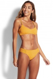 Bikini alsó Seafolly Stardust Ruched Side Retro Saffron