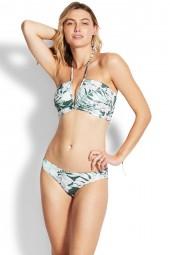 "Bikini felső Seafolly Copacabana Shirred Back ""V"" Wire Bandeau Vine"