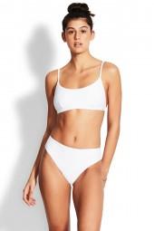 Bikini felső Seafolly Essentials Bralette White