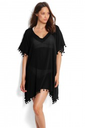 Kaftan Seafolly Beach Basics Amnesia Black