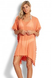 Kaftan Seafolly Beach Basics Amnesia Melon