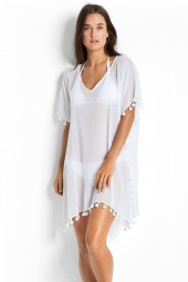 Kaftan Seafolly Beach Basics Amnesia White