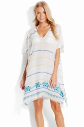 Kaftan Seafolly Sunflower Embroidered White