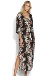 Kaftan Seafolly Ocean Alley Maxi Black