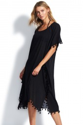 Kaftan Seafolly Beach Basics Midi Amnesia Black