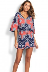 Kaftan Seafolly Bandana Bay Chilli